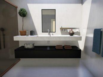 lavello in marmo bagno moderno