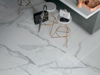 pavimento in marmo visto dall'alto
