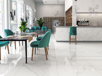 pavimento in marmo ristorante hotel a piacenza