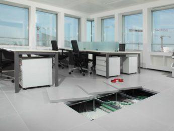 pavimento tecnico, ufficio