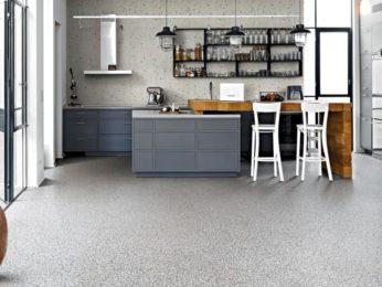 bancone cucina pavimento in graniglia