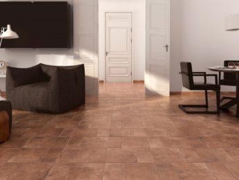 pavimento in cotto soggiorno abitazione a piacenza