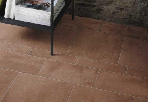 pavimento in cotto, forme rettangolari e quadrate
