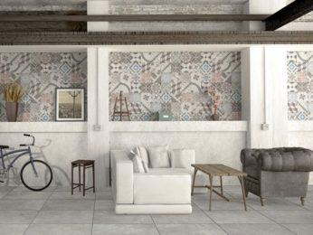 parete con piastrelle marocchine