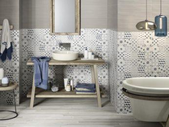 piastrelle decorate bagno