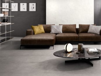 piastrelle effetto resina per salotto moderno