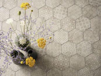 pavimento, piastrelle esagonali - casa di piacenza