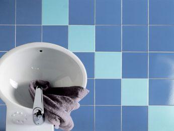 piastrelle in gres porcellanato smaltato, vista dall'alto bagno