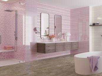 piastrelle rosa per bagno a piacenza