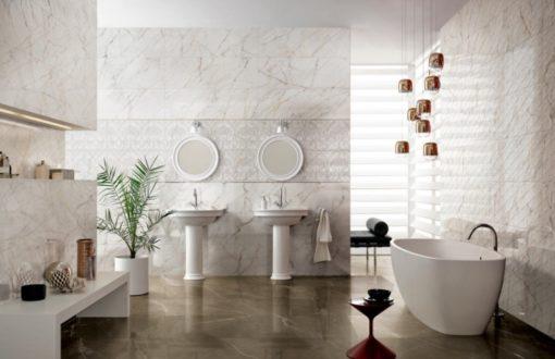rivestimento bagno effetto marmo