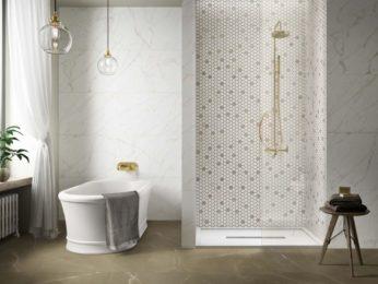 rivestimento doccia a mosaico