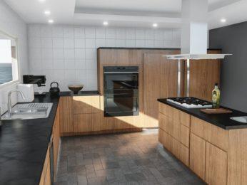 rivestimento cucina, altro esempio cucina moderna