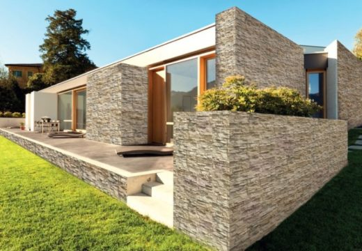 esterno, rivestimento in pietra