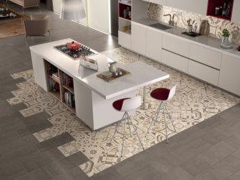 pavimento con cementine effetto tappeto